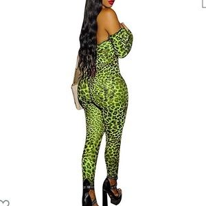 Sheer stretch jumpsuit.  just like the picture
